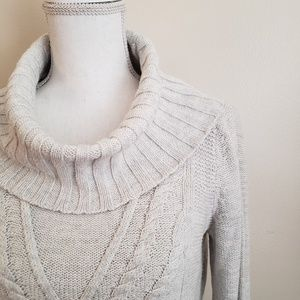 Motherhood Maternity Cowl Neck Cable Knit Sweater
